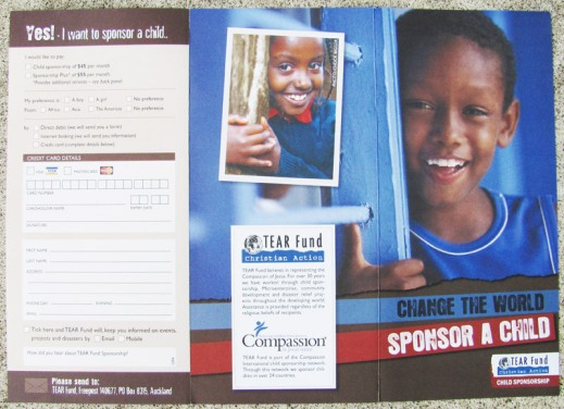 Tear Fund Campaign Brochure